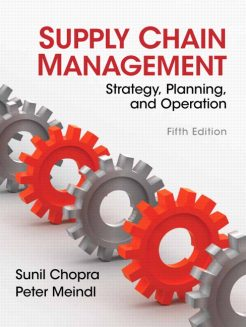 Solution manual for Supply Chain Management 5th Edition by Chopra & Meindl