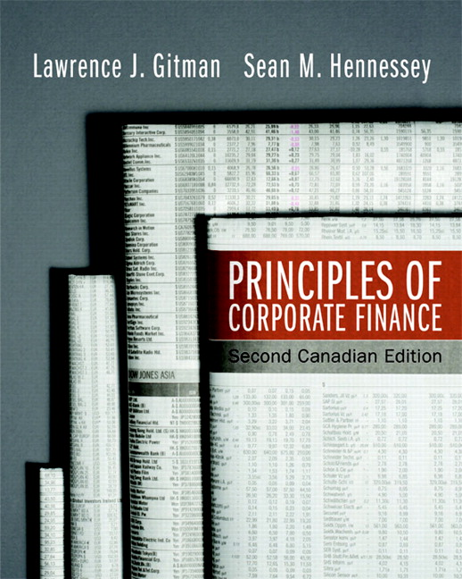Solution Manual for Principles of Corporate Finance 2nd Canadian Edition by Gitman