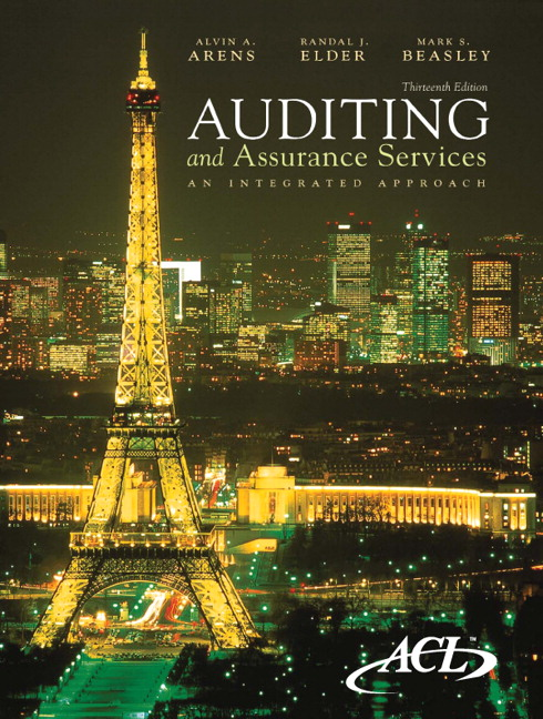Test Bank for Auditing and Assurance Services An Integrated Approach 13th Edition by Arens