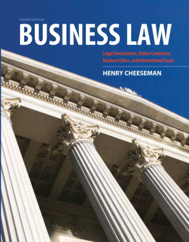 Test Bank for Business Law 8th Edition by Cheeseman