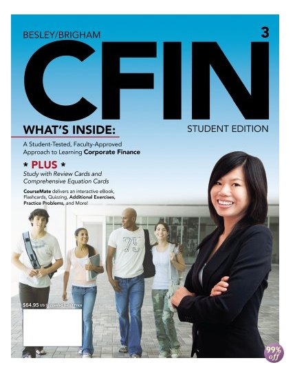 Solution Manual for CFIN 3 3rd Edition by Besley