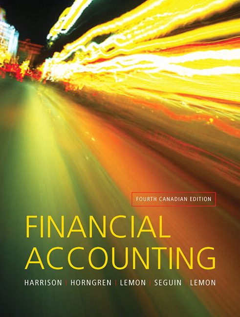 Test Bank for Financial Accounting 4th Canadian Edition by Harrison
