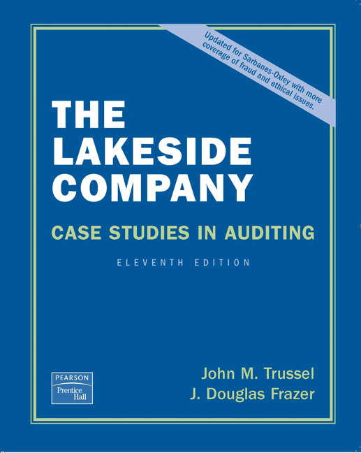 lakeside company case studies in auditing solution Lakeside company case studies in auditing solution ebooks lakeside company case studies in auditing solution is available on pdf, epub and doc format.
