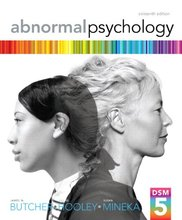 Abnormal Psychology Butcher 16th Edition Test Bank