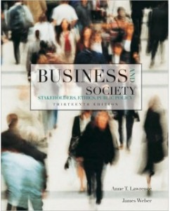 Test Bank for Business and Society, 13th Edition: Anne Lawrence