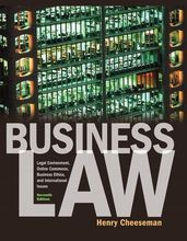 Business Law Cheeseman 7th Edition Solutions Manual