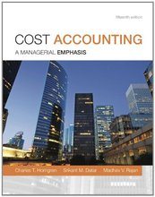 Cost Accounting Horngren 15th Edition Test Bank