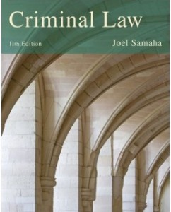 Test Bank for Criminal Law, 11th Edition: Joel Samaha