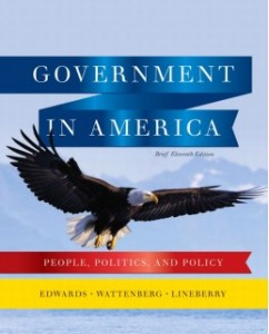 Test Bank for Government in America, Brief, 11th Edition: George C. Edwards, III