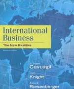 Test Bank for International Business The New Realities, 2nd Edition: Cavusgil