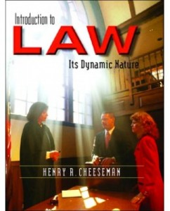 Test Bank for Introduction to Law: Its Dynamic Nature, 1st Edition: Henry R. Cheeseman
