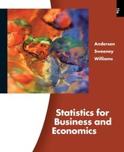 Statistics for Business and Economics Anderson 11th Edition Solutions Manual