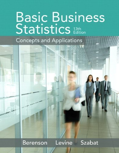 Basic Business Statistics Berenson 13th Edition Test Bank