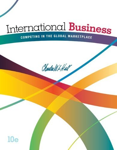International Business Competing in the Global Marketplace Hill 10th Edition Test Bank