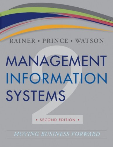 Management Information Systems Rainer 2nd Edition Test Bank