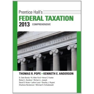 Prentice Hall's Federal Taxation 2013 Comprehensive Pope 26th Edition Test Bank