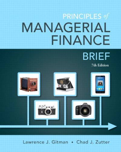 chapter 7 solutions managerial finance Access principles of managerial finance 14th edition chapter 7 solutions now  our solutions are written by chegg experts so you can be assured of the highest .
