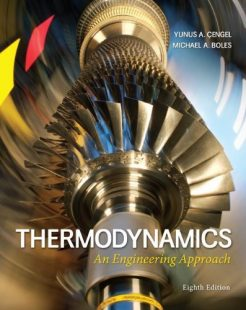 Thermodynamics An Engineering Approach Cengel 8th Edition Solutions Manual