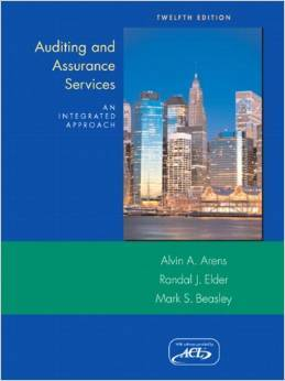 Solution Manual For Auditing and Assurance Services (12th Edition) by Alvin A Arens , Randal J. Elder, Mark Beasley