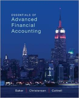 INSTRUCTOR MANUAL FOR ESSENTIALS OF ADVANCED FINANCIAL ACCOUNTING BAKER, 1ST EDITION