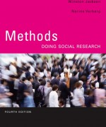 Test Bank for Methods: Doing Social Research, 4/E 4th Edition Winston Jackson, Norine Verberg