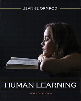 Human Learning 7th Edition Ormrod Test Bank
