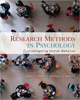 Downloadable Test Bank for Research Methods In Psychology 1st Edition Nestor