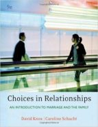 Test Bank for Choices In Relationships Introduction To Marriage And The Family 9th Edition Knox