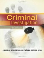 Test Bank for Criminal Investigation 10th Edition Orthmann