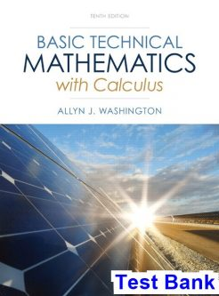 Basic Technical Mathematics with Calculus 10th Edition Washington Test Bank