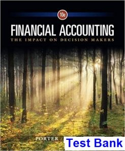 Financial Accounting The Impact on Decision Makers 10th Edition Porter Test Bank