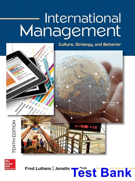 International Management Culture Strategy and Behavior 10th Edition Luthans Test Bank