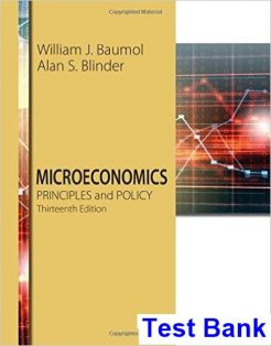 Microeconomics Principles and Policy 13th Edition Baumol Test Bank