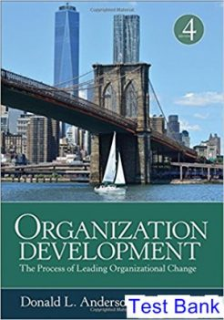 Organization Development The Process of Leading Organizational Change 4th Edition Anderson Test Bank