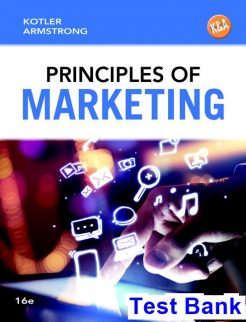 Principles of Marketing 16th Edition Kotler Test Bank