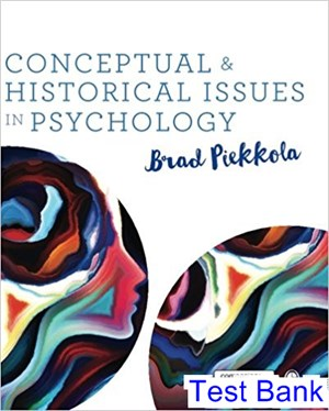 Conceptual and Historical Issues in Psychology 1st Edition Piekkola Test Bank
