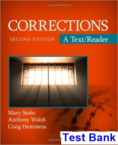 Corrections 2nd Edition Stohr Test Bank