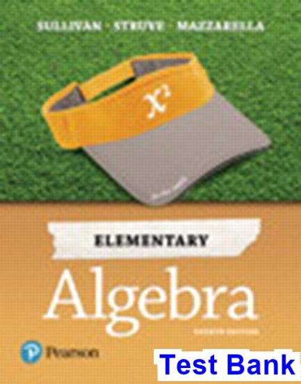 Elementary Algebra 4th Edition Sullivan Test Bank