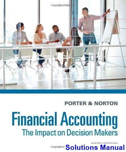 Financial Accounting The Impact on Decision Makers 9th Edition Porter Solutions Manual