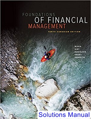 Foundations of Financial Management Canadian 10th Edition Block Solutions Manual