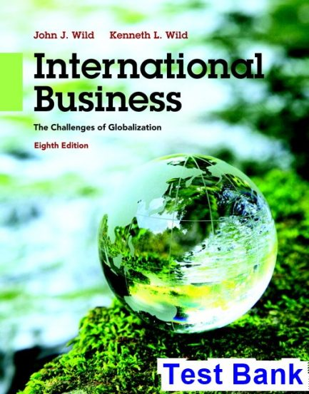 International Business The Challenges of Globalization 8th Edition Wild Test Bank