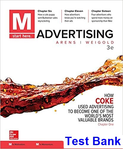 M Advertising 3rd Edition Schaefer Test Bank