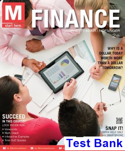 M Finance 2nd Edition Millon Test Bank