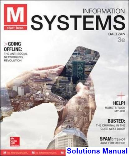 M Information Systems 3rd Edition Baltzan Solutions Manual