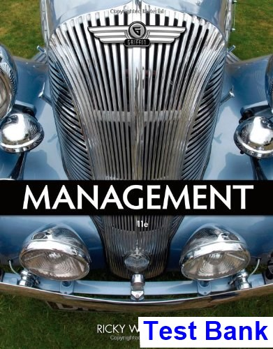 Management 11th Edition Griffin Test Bank
