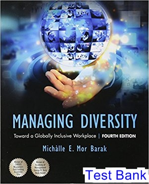 Managing Diversity Toward a Globally Inclusive Workplace 4th Edition Barak Test Bank