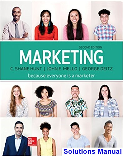Marketing 2nd Edition Hunt Solutions Manual