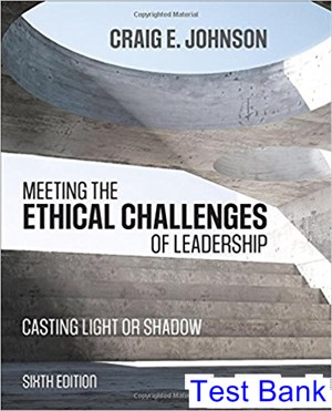 Meeting the Ethical Challenges of Leadership Casting Light or Shadow 6th Edition Johnson Test Bank