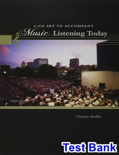 Music Listening Today 5th Edition Charles Hoffer Test Bank
