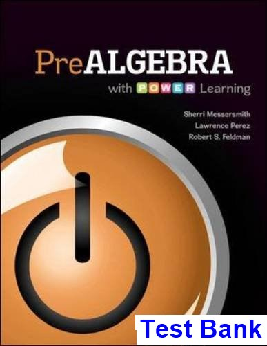Prealgebra with P O W E R Learning 1st Edition Messersmith Test Bank